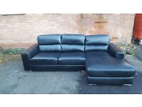 Fabulous BRAND NEW black leather corner sofa ,good quality ,never used ,can deliver