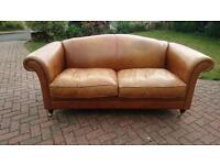 A laura ashley Gloucester leather hide sofa