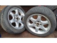 "MGF MGTF 15"" wheels, good tyres x4"
