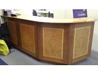 Wooden shop counter