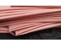 Peach poly cotton or polyester matt satin fabric 14m x 140cm