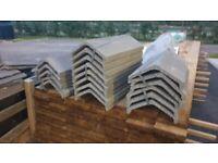 Roof Ridge Tiles Concrete 220mm wide x 450mm long