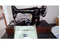 Singer sewing machine of unknown age converted to electric and working (I think)