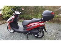Lex moto 125cc petrol scooter only 1700 miles