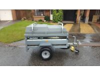 Daxara 148 trailer, with hard top cover & load bars - camping, cycling, holidays and general use