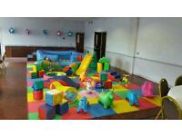 Soft play bouncy castle ad on