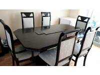 Black Dinning Table with 6 Chairs