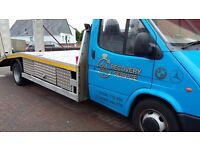 TOTALLY REFURBISHED BANANA ENGINE FORD TRANSIT BEAVERTAIL RECOVERY TRUCK