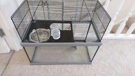 Gerbil cage glass bottom