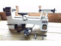 Jet JWL 1015 wood turning lathe with Axminster clubman sk100 chuck