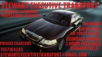 Stewart Executive Transport * * Barrie to Pearson in a  luxury**