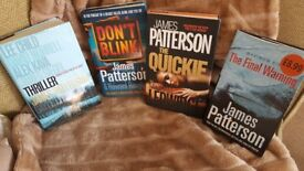 JAMES PATTERSON X4 HARD BACK BOOKS