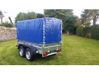 New trailer 8.2 x 4.2 with cover 190 cm Braked trailer 2700kg £ 1850 INC VAT