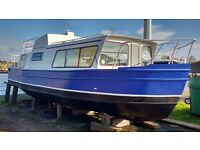 Live aboard wide beam steel boat / houseboat