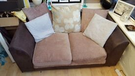 Brown sofa 2 seater