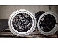 Classic mini 10 inch mamba alloys no tyres