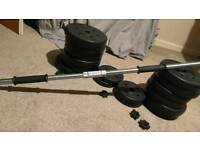Dumbbells/barbell with 47kg weights