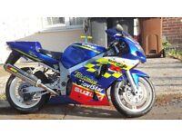 2001 Suzuki GSXR600 Movistar Edition (600cc not r6 r1cbr zxr ninja fireblade)