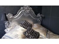 Louis style stunning double / queen size bed