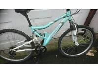 SHOCKWAVE, LADIES OR MENS MOUNTAIN BIKE, 17 INCH FRAME 26 INCH WHEEL'S 18 GEARS, GOOD TYRES,