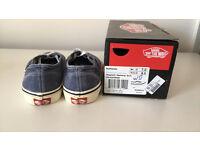 Unisex Authentic Vans Shoes Medieval Blue (Washed)