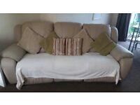 cream leather recliner sofa 3+2