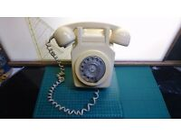 Vintage BT 741 Rotary Dial Wall Mounted Telephone & Mounting Bracket