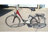 Raleigh Dover step through Gents ebike