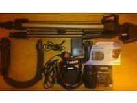 CANON EOS 100D 18.0 MP DSLR CAMERA - 1080p + (TRIPODS)