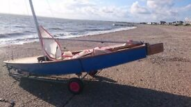 Miracle Sailing Dinghy - ready to sail with launching dolly, trailer and extra accessories