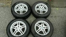 "FORD GALAXY VW SHARAN SEAT ALHAMBRA 15"" ALLOYS & 215/60/15 TYRES 5X112PCD"