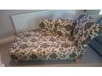 Chaise Longue (Argos Floral Fabric) Like New
