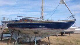 26 ft Wooden Cruiser Clinker Sailing Yacht
