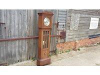 Vintage Oak Grandfather Grandmother Clock.