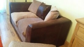 2 seater sofa and footstool