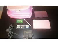 Pink DS Lite with games and accessories