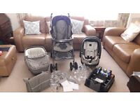 Mamas and Papas Pliko P3 Combination Travel System in Toffee, excellent condition