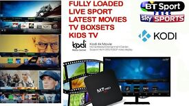 Android Smart Tv Box *Fully Loaded* with Latest Kodi + 4k ultra