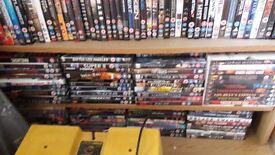 DVDs. Over 300 mixed genre. No chickflicks! Fantasy/Action/Thrillers/Horror/Suspense/Adventure