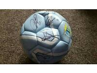 Signed Manchester City Football