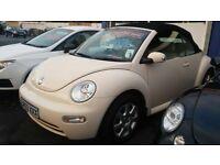VW Volkswagen Beetle Convertable Cabriolet in Beige. LOW MILEAGE