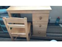 Children's solid wood desk