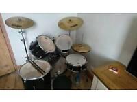 "Yamaha Gigmaker Drum Kit, 22"" Rock, Black Glitter"