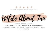 5* Mobile Spray Tanning-Wilde About Tan Bingham,Vale of Belvoir and Bottesford (over 200 5* reviews)