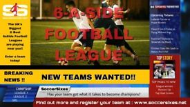 Yeovil 6aSide football league with Soccersixes - FREE TO JOIN!!