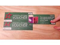 cineworld 2 adult 2d or 3d tickets with voucher for drinks and popcorn.