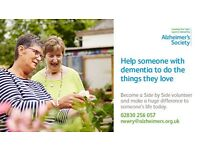 Alzheimer's Society 'Side By Side' Volunteers urgently required