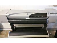 "HP DesignJet 500 A0 42"" Large Format Canvas Inkjet Printer Plotter + Warranty"