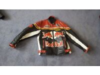 Motor cycle jacket leather good condition size large