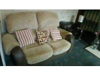 3 seater and 2 seater and recling chair